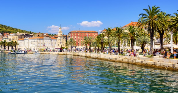 Split city on Adriatic sea, Croatia Stock Photo