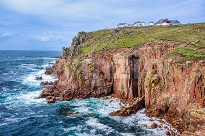 Land's End headland, Cornwall, England, UK Stock Photo