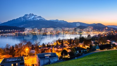 Panoramic view of Lucerne city, Switzerland Stock Photo